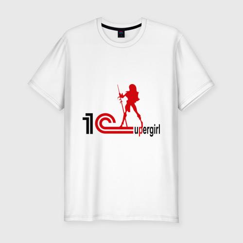 Мужская футболка хлопок Slim 1C SuperGirl (3)