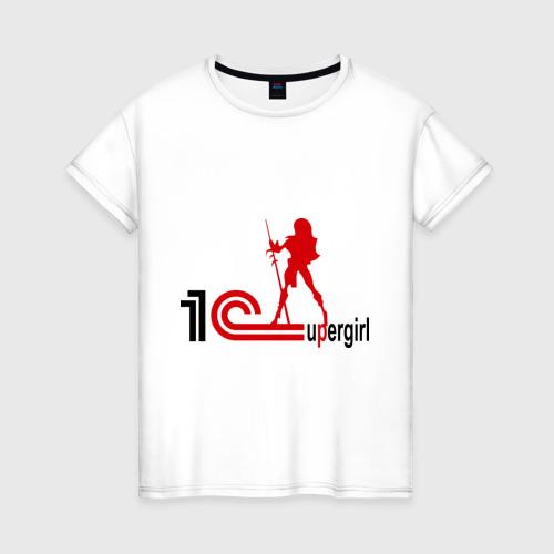 Женская футболка хлопок 1C SuperGirl (3)