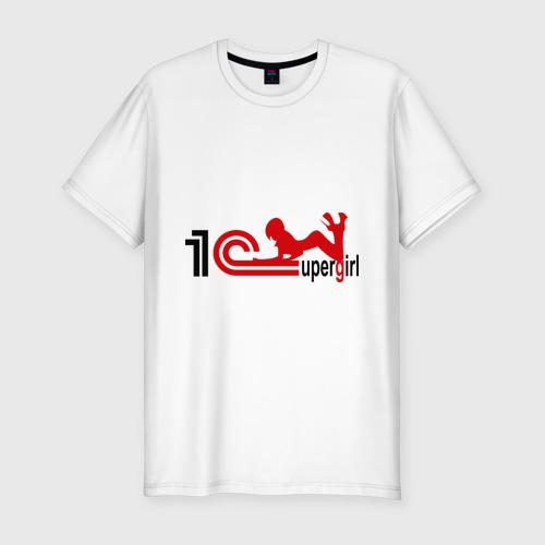 Мужская футболка хлопок Slim 1C SuperGirl (4)