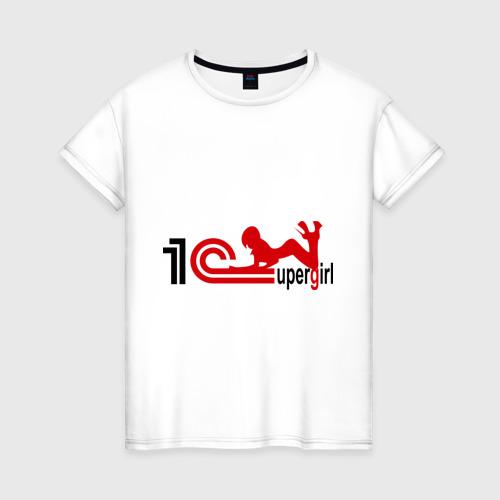 Женская футболка хлопок 1C SuperGirl (4)