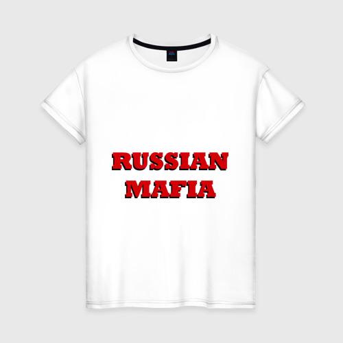 Женская футболка хлопок Russian Mafia