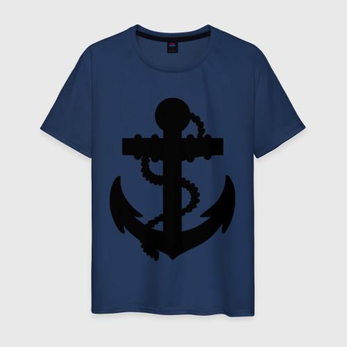 Мужская футболка хлопок Якорь
