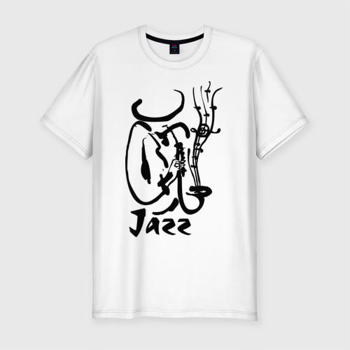 Мужская футболка хлопок Slim Jazz