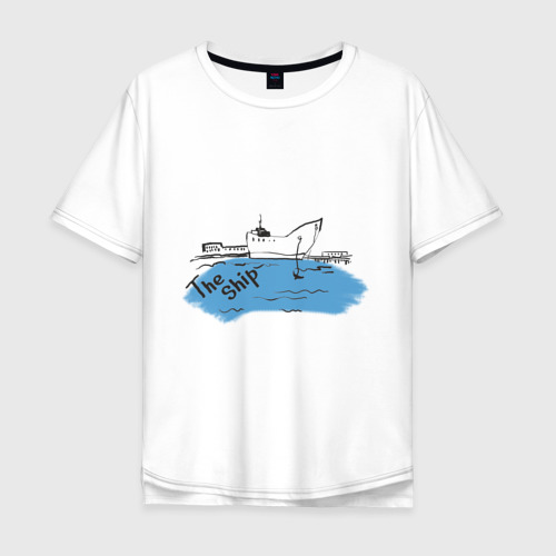 Мужская футболка хлопок Oversize The Ship