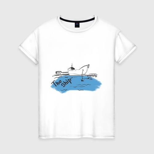 Женская футболка хлопок The Ship