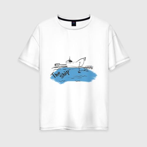 Женская футболка хлопок Oversize The Ship