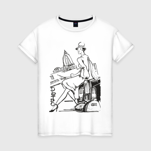 Женская футболка хлопок Ретро (2)