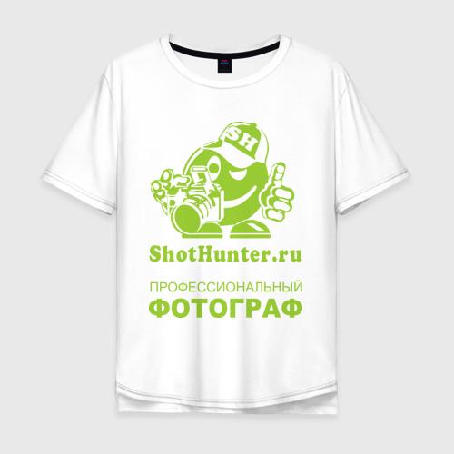 Мужская футболка хлопок Oversize ShotHunter(2)