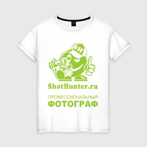 Женская футболка хлопок ShotHunter(2)