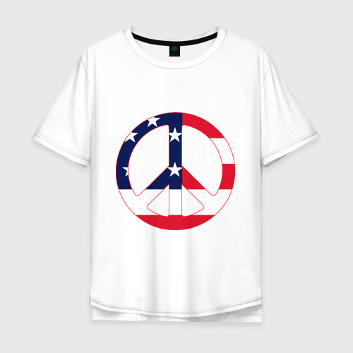 Мужская футболка хлопок Oversize Пацифик