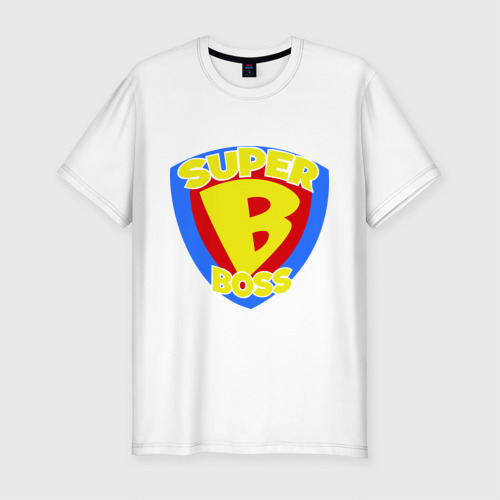 Мужская футболка хлопок Slim Супер-босс