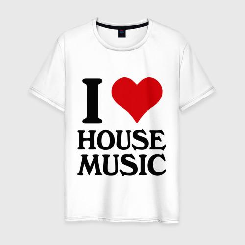 Мужская футболка хлопок I love house music (4)
