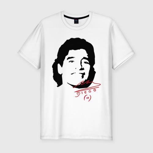 Мужская футболка хлопок Slim Diego Maradona