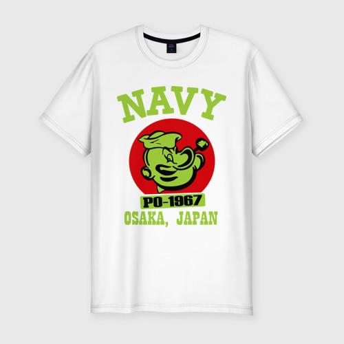 Мужская футболка хлопок Slim Моряк Попай