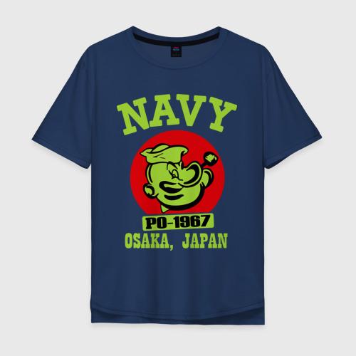 Мужская футболка хлопок Oversize Моряк Попай