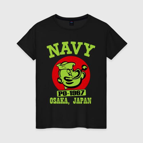 Женская футболка хлопок Моряк Попай