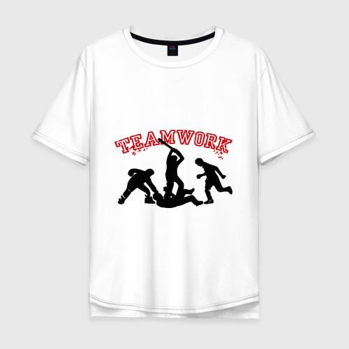 Мужская футболка хлопок Oversize Командная работа