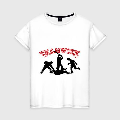 Женская футболка хлопок Командная работа