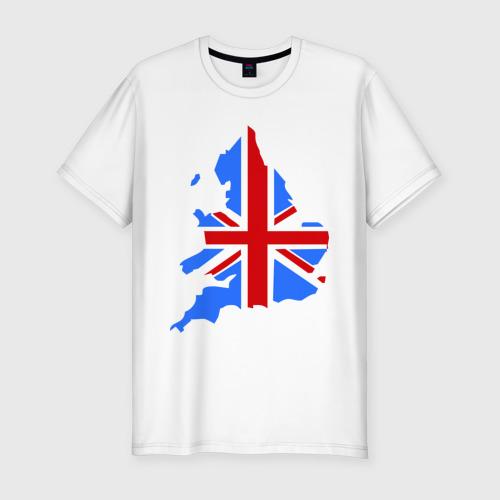 Мужская футболка хлопок Slim Карта Англии