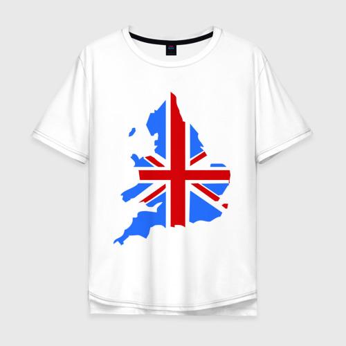 Мужская футболка хлопок Oversize Карта Англии