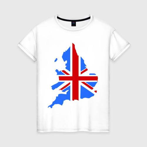 Женская футболка хлопок Карта Англии