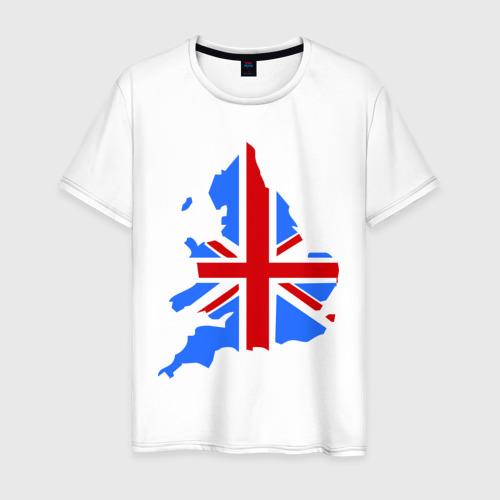 Мужская футболка хлопок Карта Англии