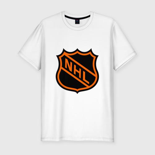 Мужская футболка хлопок Slim NHL