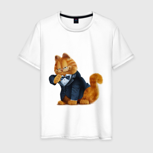 Мужская футболка хлопок Гарфилд (4)