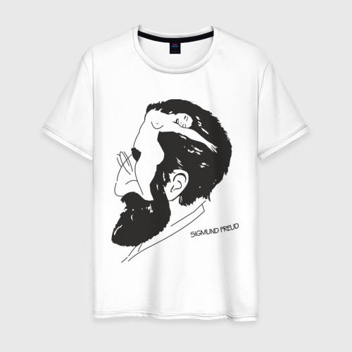 Мужская футболка хлопок Портрет Зигмунда Фрейда