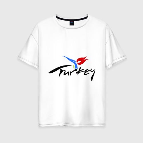 Женская футболка хлопок Oversize Turkey