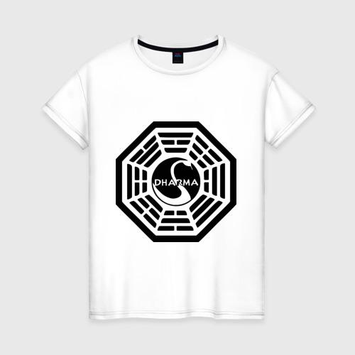 Женская футболка хлопок Lost dharma