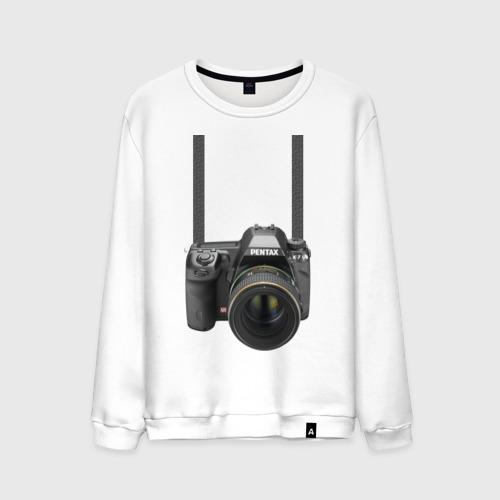 Мужской свитшот хлопок Фотоаппарат на шее