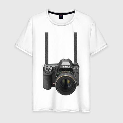 Мужская футболка хлопок Фотоаппарат на шее
