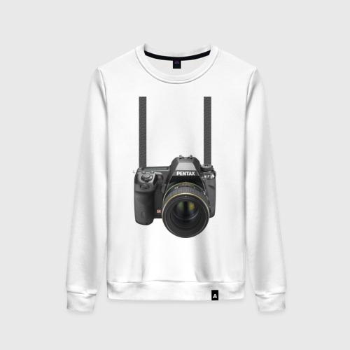 Женский свитшот хлопок Фотоаппарат на шее