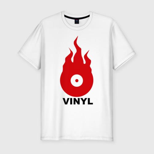 Мужская футболка хлопок Slim Vinyl