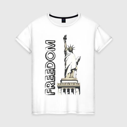 Женская футболка хлопок Freedom