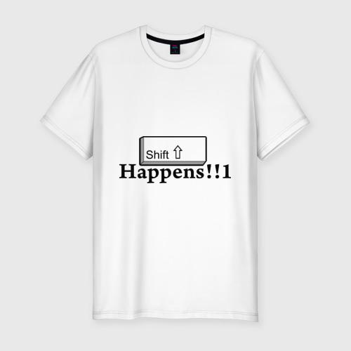 Мужская футболка хлопок Slim Shift Happens