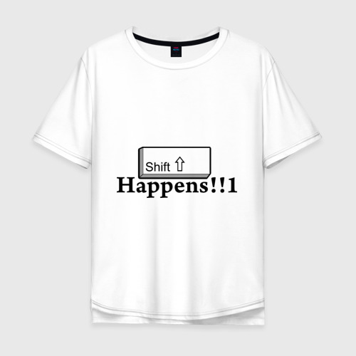 Мужская футболка хлопок Oversize Shift Happens