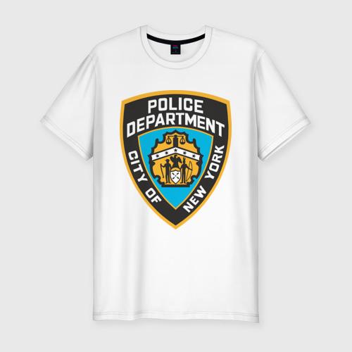 Мужская футболка хлопок Slim N.Y.P.D.