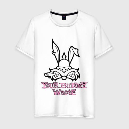 Мужская футболка хлопок Your Bunny Wrote
