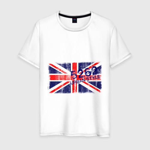 Мужская футболка хлопок England Urban flag