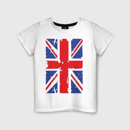 Детская футболка хлопок Британский флаг