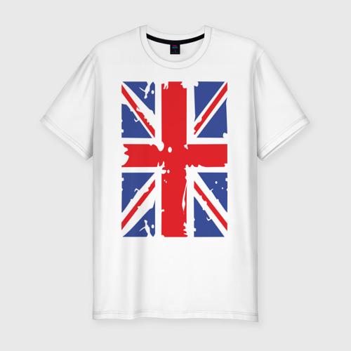 Мужская футболка хлопок Slim Британский флаг