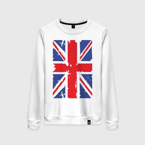 Женский свитшот хлопок Британский флаг