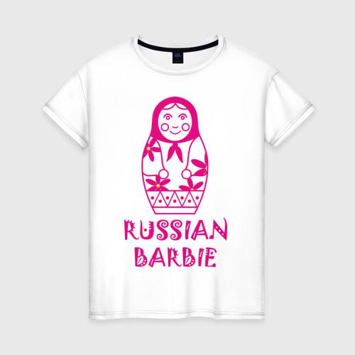 Женская футболка хлопок Русская Барби