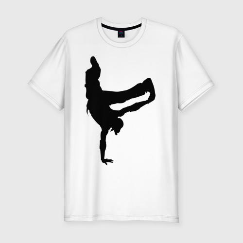 Мужская футболка хлопок Slim Брэйк дансер