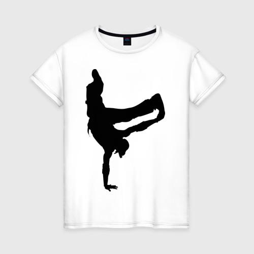 Женская футболка хлопок Брэйк дансер