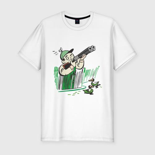 Мужская футболка хлопок Slim Охота на дичь
