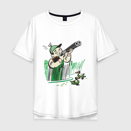 Мужская футболка хлопок Oversize Охота на дичь