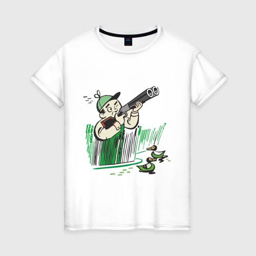 Женская футболка хлопок Охота на дичь